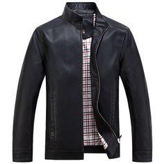 Leather Jackets Men's jacket male Outwear Men's Coats Fall Jackets, Men's Jackets, Jacket Style, Jacket Men, Jackett, Mens Sweatshirts, Leather Jackets, Black Coffee, Men Casual