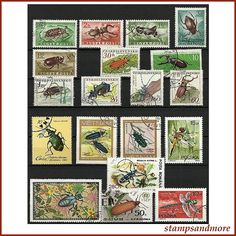 Insects  Beetles & Bugs Postage Stamps by stampsandmore on Etsy, $3.50