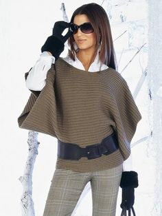 Brazil Knitting & Crochet - Handmade - Winter Outfits for Work Mode Outfits, Winter Outfits, Look Fashion, Winter Fashion, Mode Inspiration, Pulls, Ideias Fashion, Knitwear, What To Wear