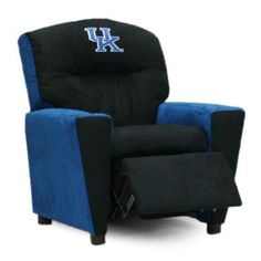 """1300-1-KY-AA Features: -""""All American"""" Collegiate collection. -Official Collegiate patch. -Generously padded with dense fibers and polyester fibers for both comfort and safety. -Comes with cup holder. -Features a plastic cup holder recessed in top right armrest. -Safety reclining... more details available at https://furniture.bestselleroutlets.com/children-furniture/chairs-seats/recliners/product-review-for-all-american-collegiate-kids-recliner-with-cup-holder-2/"""