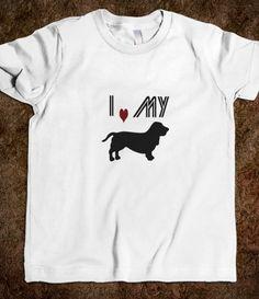 I Love My Basset Hound Kids Tee #skreened #kids #dogs #bassethound #tees
