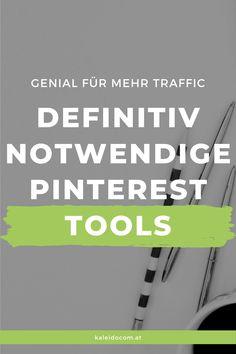 Genial für mehr Pinterest Traffic - 11 größtenteils kostenlose Tools für Pinterest. #PinterestTipps #PinterestMarketing #kaleidocom Pinterest Profile, Pinterest App, Marketing, Tricks, Beautiful Artwork, Tutorials