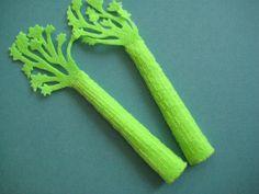 Celery stalks made of felt by pearlnyc, via Flickr