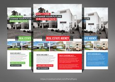 Real Estate Business Flyers by Party Flyers on @graphicsmag