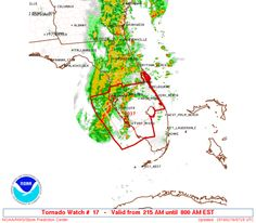 SPC Tornado Watch 17 - http://blog.clairepeetz.com/spc-tornado-watch-17/