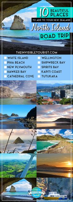 Is a North Island Road trip planned for your visit to New Zealand? Here's 10 must see, beautiful places for your itinerary - recommended by travel bloggers! #beautifulplaces #newzealand #northisland #northislandroadtrip #newzealandbeauty #newzealandfinds #newzealandguide