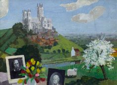 """""""View of Lincoln Cathedral"""" by Kenneth Rowntree"""