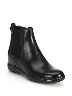 Prada Leather Ankle Boots $620