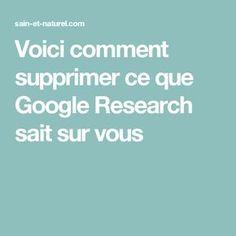 Voici comment supprimer ce que Google Research sait sur vous Web Design Tools, Tool Design, Mac Ipad, Netflix Codes, Iphone Hacks, Google, Blog, Research, Smartphone