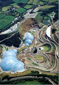 The Eden Project: one of the largest hidden gardens, and boasts the largest greenhouse in the world! #england #teachintheuk #liveintheuk #engageeducation