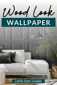 Want to make a bold statement without spending a fortune on wood paneling in your home? This week we're telling you all about faux wood paneling wallpaper, and how to use wallpaper in your home. Look Wallpaper, White Wallpaper, Dark Wood Floors, Wood Paneling, Dark Bedding, Marble Furniture, Monochrome Interior, Inspirational Wallpapers, Minimal Decor
