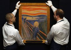 food for the soul - The Scream is readied for auction at Sotheby's in New YorkPhotograph: Stefan Wermuth/Reuters