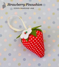 Tutorial: Strawberry Pincushion ~ by Down Grapevine Lane
