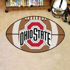 Fun and comfortable, the FANMATS 2 ft. x 3 ft. Area Rug is the ideal finishing touch to your home. This specialty rug has an Ohio State University logo, showcasing your love of your favorite team. It is planet-friendly, so you can reduce your carbon Buckeyes Football, Ohio State Football, Ohio State University, Ohio State Buckeyes, American Football, Football Art, College Football, Ohio State Rooms, Ohio State Decor