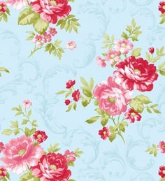 new tanya whelan collection pre sale lulu roses pwtw092 skyxx rh pinterest com Shabby Chic Wallpaper for the Home Shabby Chic Blue Wallpaper