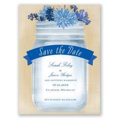 Vintage Canning Jar - Horizon - Save the Date