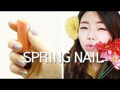 봄맞이 스티커네일아트 /초보자도 10분이면 2주간 네일걱정 끝! Spring nail art