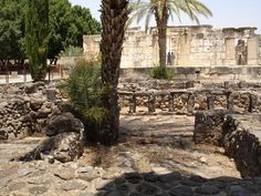 Capernaum next to the sea of Galilee