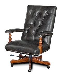 Hooker Furniture - Executive Swivel Tilt Chair in Old Saddle Cocoa Brown Finish