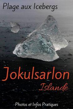 Plage Jökulsárlón Islande - Icebergs sable noir