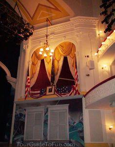 Lincoln's balcony at Ford's Theatre in Washington D.C. - www.TourGuideToFun.com #fordstheatre #lincoln #lincolnassassination #washingtondc