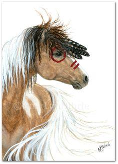Majestic Horse - Bucksin Dun Paint Native Feathers - Prints by Bihrle mm93 door AmyLynBihrle op Etsy https://www.etsy.com/nl/listing/175592787/majestic-horse-bucksin-dun-paint-native