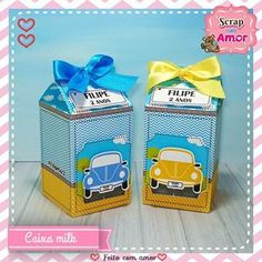 Caixa milk.. A queridinha! 💕💕💕 . Orçamentos: 61 98440-6009 (Whatsapp) . . . #papelariacriativa #papelariapersonalizada #festafusca #scrapfestafusca #temamemino #meumundoazul #maedemenino #festainfantil #montandominhafesta #festapersonalizada #scrapfestabrasilia #maesfesteiras #maesfesteirasbsb Lunch Box, Personalized Stationery, Beetle Car, Kids Part, Box, 4 Years, Bento Box