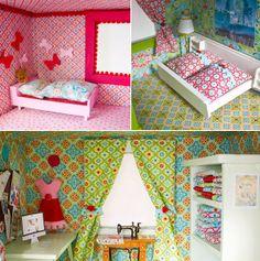 Möbel & Deko sind fertig :) http://www.kreativlaborberlin.de/neugestaltung-eines-puppenhauses-3-moebel-lackieren-und-puppenhaus-einrichten/