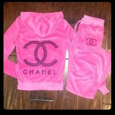 chanel sweatsuit pink - Google Search
