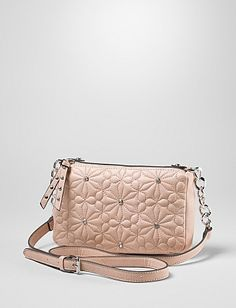 Quilted Floral Embellished Crossbody