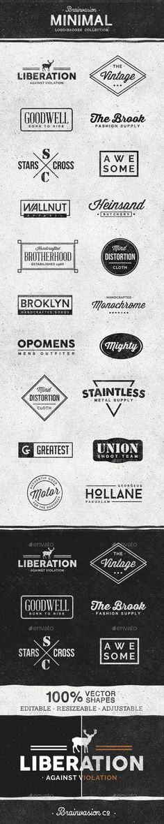 Minimal Logo/Badge Collection Template #design Download: http://graphicriver.net/item/minimal-logobadge-collection/12244832?ref=ksioks