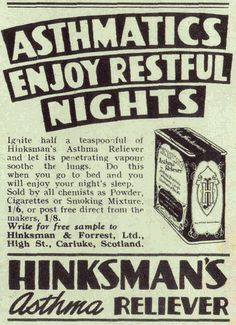 HINKSMAN'S ASTHMA RELIEVER by old school paul, via Flickr