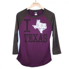 #Wholesale Women's Katydid #Aztec I Love #Texas T-Shirts KDC-LRPR-451 only $48.00 for set of 3 from www.shopforbags.com
