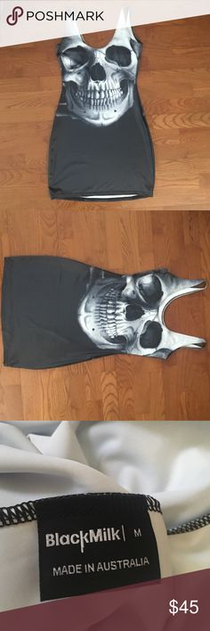 Black Milk Clothing Skull Black Dress!  I only wore this super cute dress once. Please take this off my hands, so it can go to a good home where it gets worn. ❤️❤️ (No trades at this time.) Blackmilk Dresses Mini
