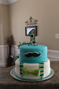 Little Man cake - First birthday