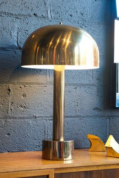 Metal Mushroom Lamp by Laurel | From a unique collection of antique and modern table lamps at http://www.1stdibs.com/furniture/lighting/table-lamps/