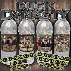 duck dynasty party supplies | Duck Dynasty Water Bottle Labels Supplies Favors Decorations ...