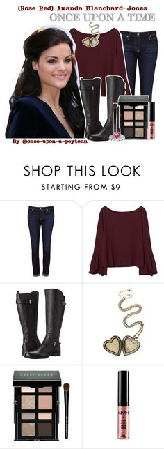 """""""☼1.45; A Requested (Rose Red) Amanda Blanchard-Jones Fashion Set"""" by once-upon-a-peytenn ❤ liked on Polyvore featuring AG Adriano Goldschmied, MANGO, Naturalizer, Bobbi Brown Cosmetics, NYX and Bling Jewelry"""