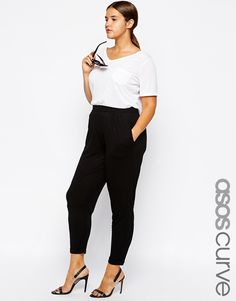Image 1 of ASOS CURVE Peg Trouser In Jersey
