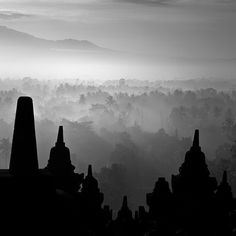 #BOROBUDUR #TEMPLE XL by @hengkikoentjoro #Photocircle #nofilter #fineartphotography from #Indonesia #Asia #blackandwhite #bw #dawn #Magelang #Java #landscapephotography #buddhism #morning #sunrise #sacred #Buddha #ancient #ethereal mist #fog #surreal #silhouette - #donation for #oxygen concentrator for TB patients in #EastTimor