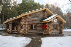Загородный деревянный дом из бруса Карельской березы.