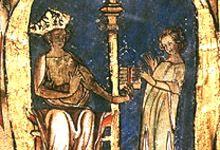 Magnus 6 Lagabøte  Magnus Lagabøte gir Landsloven til en lagmann. Illuminasjon fra lovskriftet Codex Hardenbergianus fra 1300-tallet. Illustrasjonen er utlånt av Universitetsbiblioteket i Trondheim (Gunnerusbiblioteket).  Da Håkon Håkonsson døde på Orkenøyene i 1263, ble sønnen Magnus konge i Norge. Magnus hadde fått kongsnavn allerede i 1257, og ble kronet i 1261.