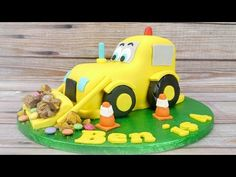 How To Make A Digger Cake - YouTube
