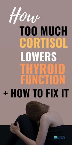 The adrenal and thyroid connection is a close one. With too much stress and high cortisol levels your thyroid slows down. Adrenal Fatigue Symptoms, Thyroid Symptoms, Thyroid Issues, Thyroid Hormone, Thyroid Disease, Thyroid Problems, Chronic Fatigue Syndrome, Hypothyroidism, High Cortisol Symptoms