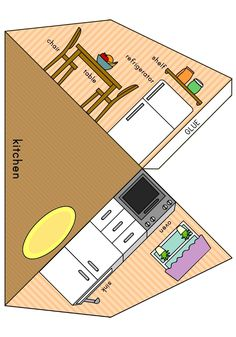 Paper Doll House, Paper Houses, Diy Paper, Paper Art, Paper Crafts, Diy For Kids, Crafts For Kids, Casa Pop, Rocket Craft