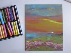 In this Oil Pastels Beginner's Guide, I explain how to use oil pastels.