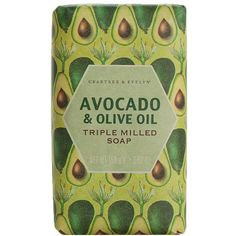 Crabtree & Evelyn 'Avocado & Olive Oil' Triple Milled Soap ($10) ❤ liked on Polyvore featuring beauty products, bath & body products, body cleansers, fillers, beauty, makeup, cosmetics, green fillers and crabtree & evelyn
