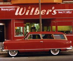 1953 Nash Rambler...this was our family car, but ours was aqua. I have lots of memories riding in the Rambler!