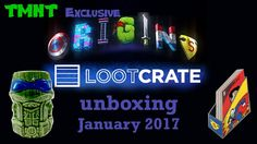 Loot Crate Unboxing - January 2017 Origins TMNT EXCLUSIVE items
