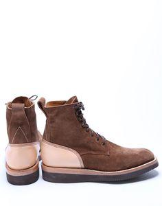 Yuketen FW12 Plain Toe Dress Boot Toast Suede